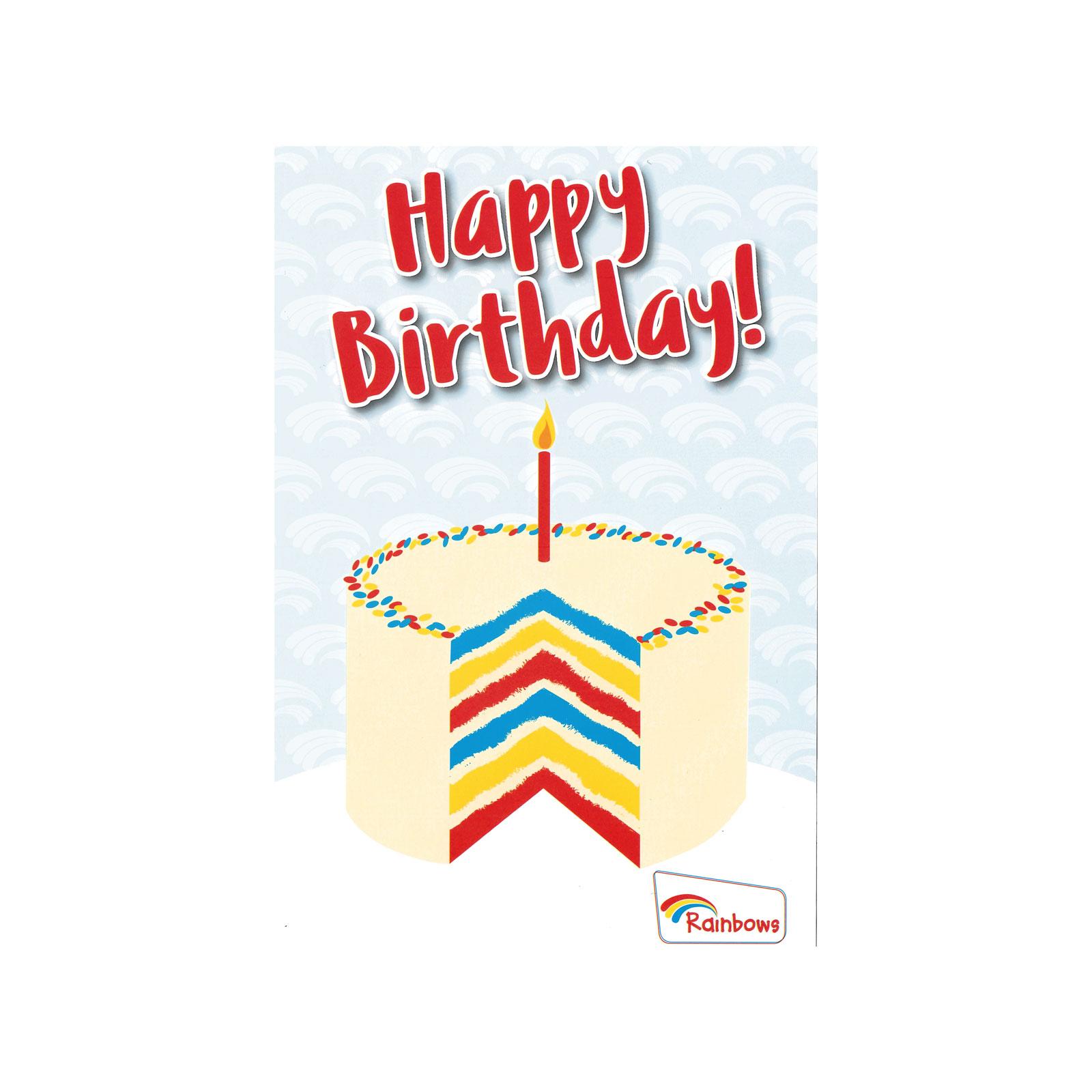 RAINBOW BIRTHDAY CARDS CAKE